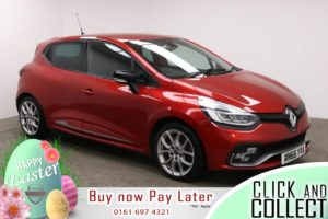 Used 2016 RED RENAULT CLIO Hatchback 1.6 RENAULTSPORT NAV 5d AUTO 198 BHP (reg. 2016-11-07) for sale in Manchester