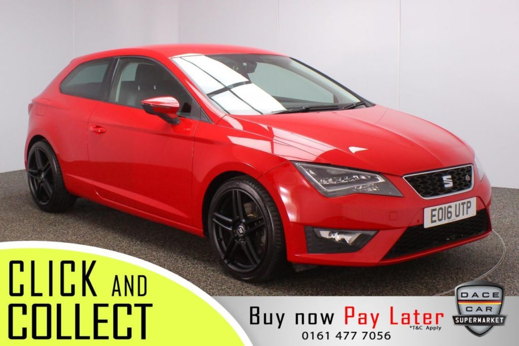 Used 2016 RED SEAT LEON Hatchback 2.0 TDI FR TECHNOLOGY DSG 3DR AUTO 184 BHP (reg. 2016-03-29) for sale in Stockport
