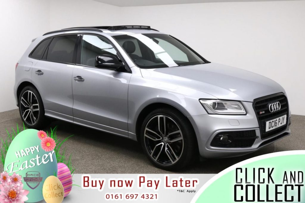Used 2016 SILVER AUDI SQ5 Estate 3.0 SQ5 PLUS TDI QUATTRO 5d AUTO 335 BHP (reg. 2016-07-30) for sale in Manchester