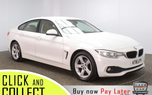Used 2016 WHITE BMW 4 SERIES GRAN COUPE Coupe 2.0 418D SE GRAN COUPE 4DR 1 OWNER 148 BHP (reg. 2016-06-30) for sale in Stockport