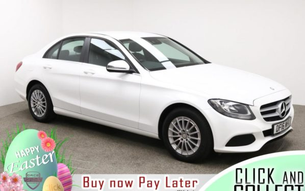 Used 2016 WHITE MERCEDES-BENZ C-CLASS Saloon 2.1 C220 D SE 4d 170 BHP (reg. 2016-06-24) for sale in Manchester