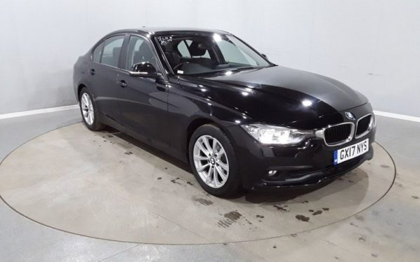 Used 2017 BLACK BMW 3 SERIES Saloon 2.0 316D SE 4d AUTO 114 BHP (reg. 2017-03-07) for sale in Manchester
