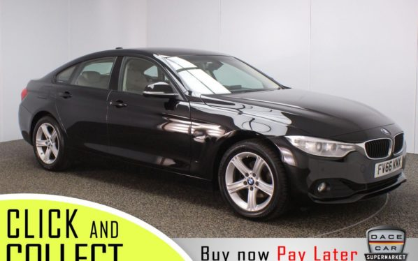 Used 2017 BLACK BMW 4 SERIES GRAN COUPE Coupe 2.0 420I SE GRAN COUPE 4DR 1 OWNER AUTO 181 BHP (reg. 2017-01-16) for sale in Stockport