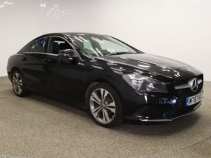 Used 2017 BLACK MERCEDES-BENZ CLA Coupe 1.6 CLA 180 SPORT 4d 121 BHP (reg. 2017-11-23) for sale in Manchester