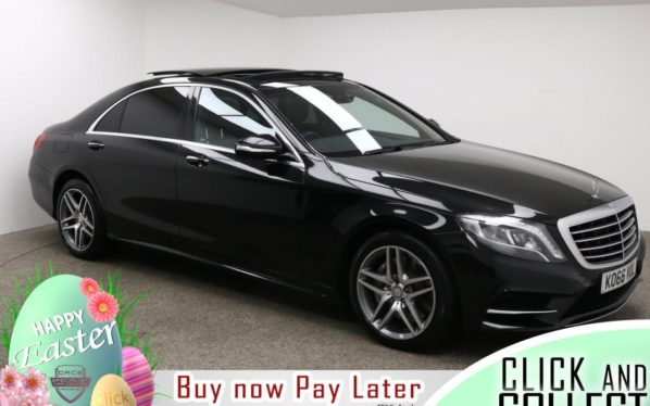 Used 2017 BLACK MERCEDES-BENZ S-CLASS Saloon 3.0 S 350 D L AMG LINE 4d AUTO 255 BHP (reg. 2017-02-07) for sale in Manchester