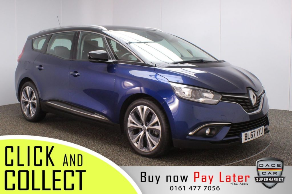 Used 2017 BLACK RENAULT GRAND SCENIC MPV 1.5 DYNAMIQUE NAV DCI EDC 5DR 109 BHP (reg. 2017-12-28) for sale in Stockport