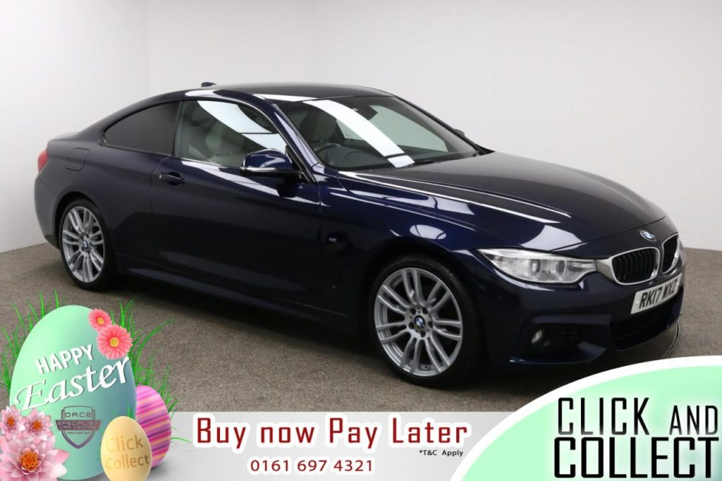 Used 2017 BLUE BMW 4 SERIES Coupe 2.0 420D M SPORT 2d 188 BHP (reg. 2017-03-15) for sale in Manchester