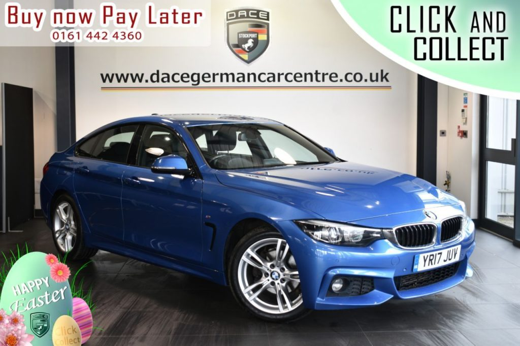 Used 2017 BLUE BMW 4 SERIES Coupe 2.0 420D M SPORT GRAN COUPE 4DR 188 BHP (reg. 2017-05-12) for sale in Bolton