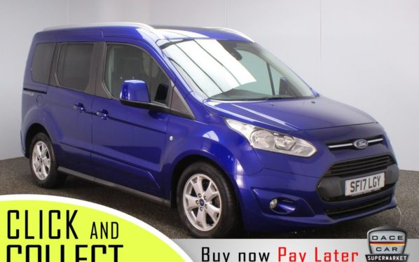 Used 2017 BLUE FORD TOURNEO CONNECT MPV 1.5 RE 5DR 1 OWNER AUTO 100 BHP WHEEL CHAIR ACCESS + VERY LOW MILES (reg. 2017-08-08) for sale in Stockport