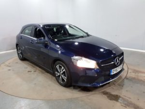 Used 2017 BLUE MERCEDES-BENZ A-CLASS Hatchback 1.6 A 160 SE 5d 102 BHP (reg. 2017-09-25) for sale in Manchester