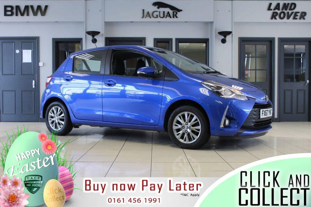 Used 2017 BLUE TOYOTA YARIS Hatchback 1.5 VVT-I ICON TECH 5d 110 BHP (reg. 2017-10-02) for sale in Hazel Grove