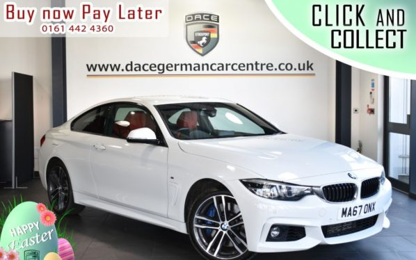 Used 2017 WHITE BMW 4 SERIES Coupe 3.0 435D XDRIVE M SPORT 2DR AUTO 309 BHP (reg. 2017-09-28) for sale in Bolton