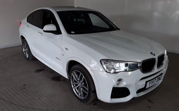 Used 2017 WHITE BMW X4 Coupe 2.0 XDRIVE20D M SPORT 4d AUTO 188 BHP (reg. 2017-03-22) for sale in Manchester