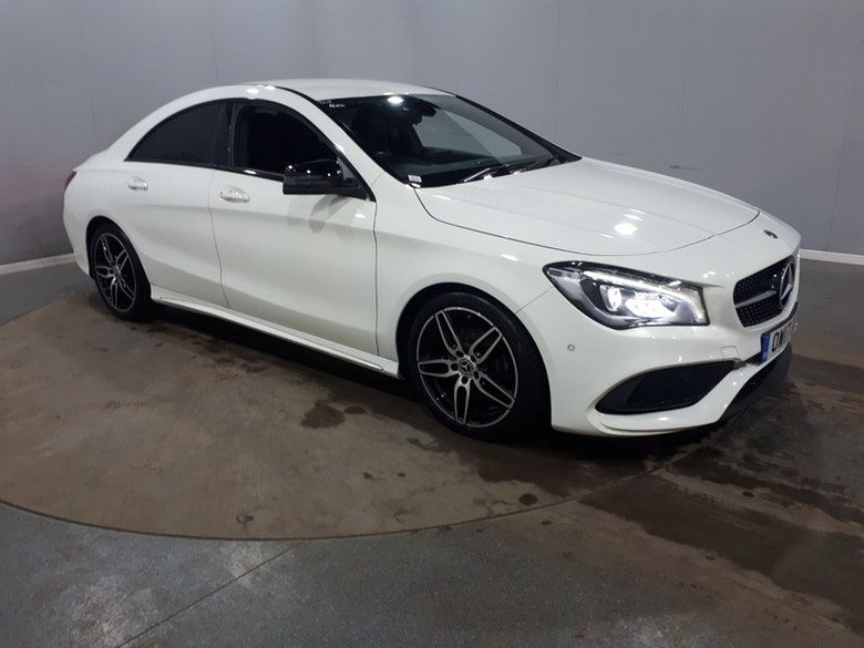 Used 2017 WHITE MERCEDES-BENZ CLA Coupe 1.6 CLA 180 AMG LINE 4d AUTO 121 BHP (reg. 2017-07-13) for sale in Manchester