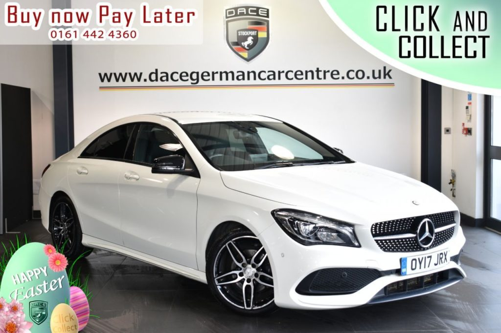 Used 2017 WHITE MERCEDES-BENZ CLA Coupe 2.1 CLA 200 D AMG LINE 4DR AUTO 134 BHP (reg. 2017-03-24) for sale in Bolton