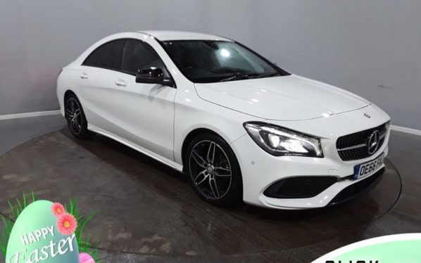 Used 2017 WHITE MERCEDES-BENZ CLA Coupe 2.1 CLA 200 D AMG LINE 4d 134 BHP (reg. 2017-01-12) for sale in Hazel Grove