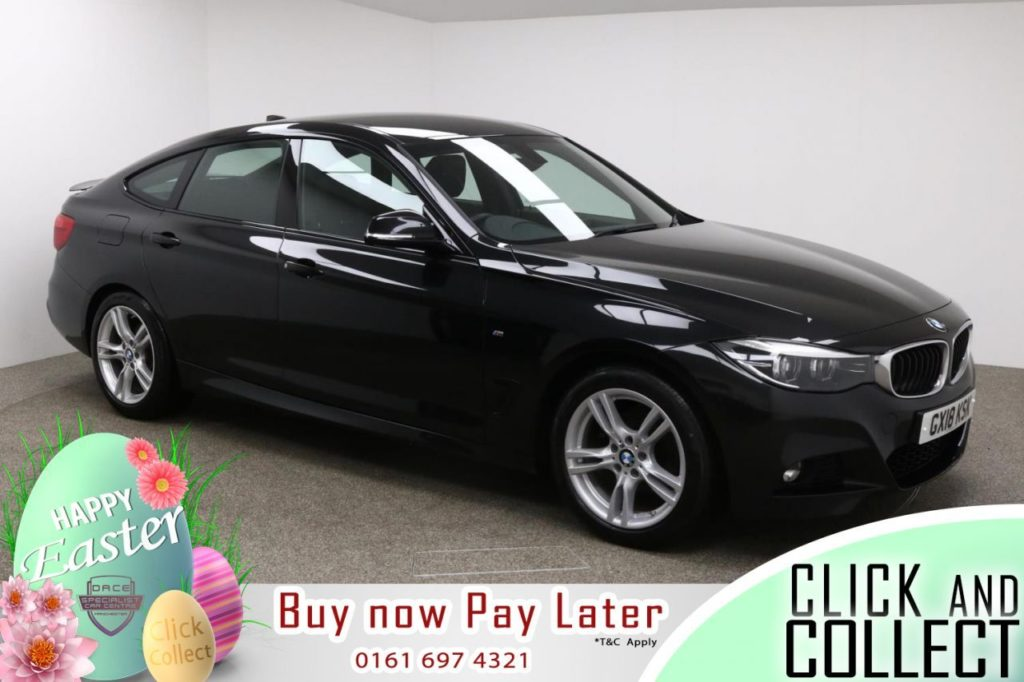 Used 2018 BLACK BMW 3 SERIES GRAN TURISMO Hatchback 2.0 320D M SPORT GRAN TURISMO 5d AUTO 188 BHP (reg. 2018-03-01) for sale in Manchester