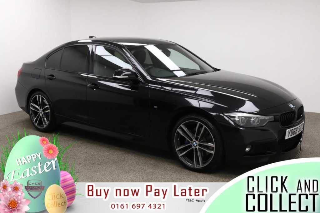 Used 2018 BLACK BMW 3 SERIES Saloon 2.0 320I M SPORT SHADOW EDITION 4d 181 BHP (reg. 2018-09-24) for sale in Manchester