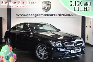 Used 2018 BLACK MERCEDES-BENZ E-CLASS Coupe 2.0 E 220 D AMG LINE 2DR AUTO 192 BHP (reg. 2018-05-29) for sale in Bolton
