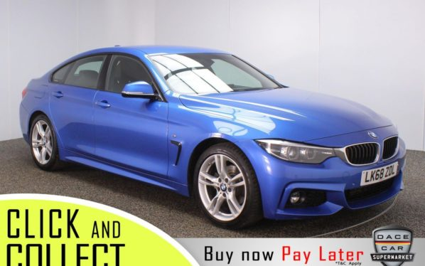 Used 2018 BLUE BMW 4 SERIES GRAN COUPE Coupe 2.0 420D M SPORT GRAN COUPE 4DR 1OWNER AUTO 188 BHP (reg. 2018-11-27) for sale in Stockport