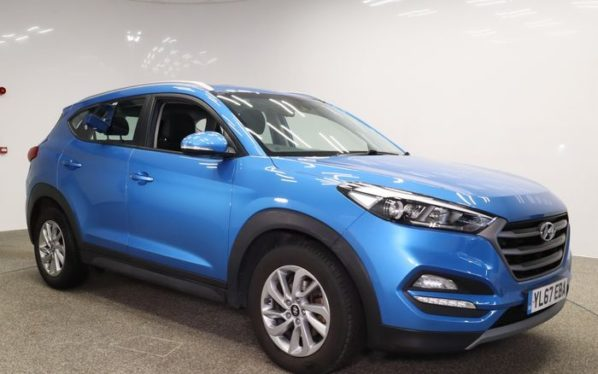 Used 2018 BLUE HYUNDAI TUCSON Estate 1.7 CRDI SE NAV BLUE DRIVE 5d AUTO 139 BHP (reg. 2018-01-16) for sale in Manchester