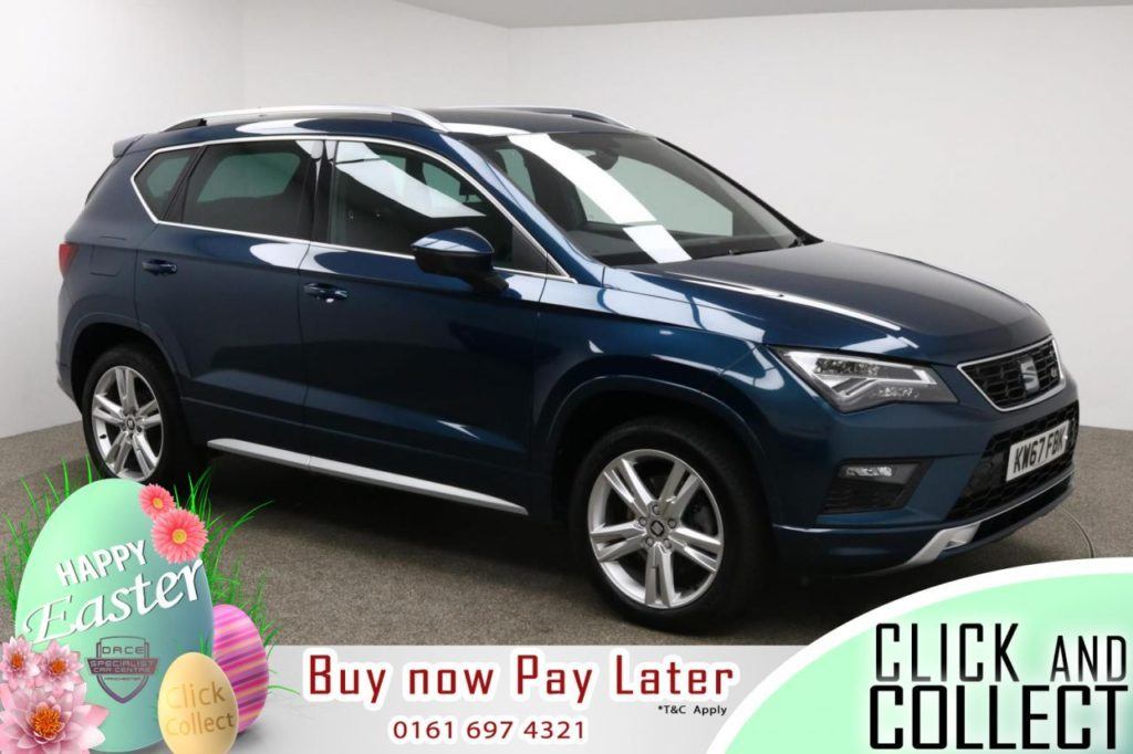 Used 2018 BLUE SEAT ATECA Hatchback 1.4 ECOTSI FR 5d 148 BHP (reg. 2018-01-05) for sale in Manchester