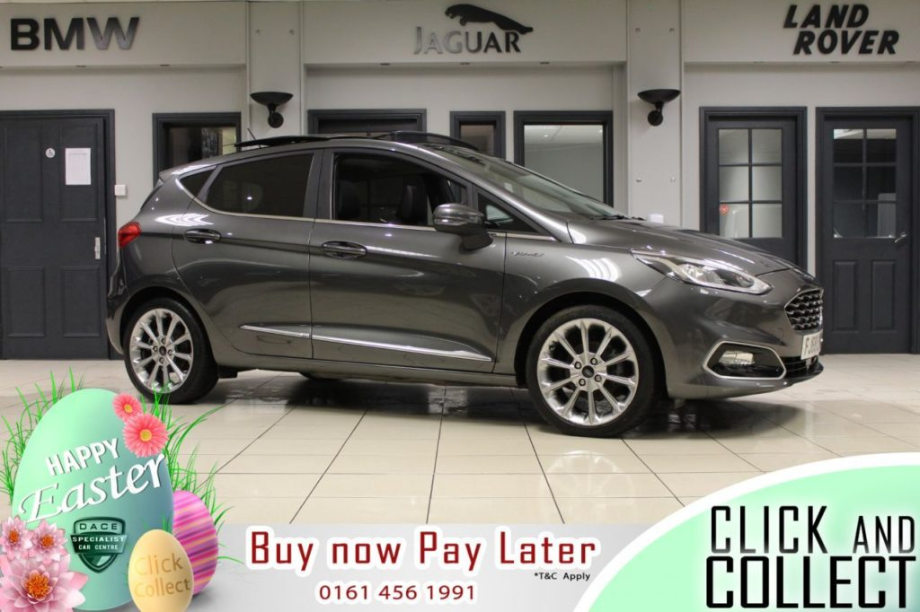Used 2018 GREY FORD FIESTA Hatchback 1.0 VIGNALE 5d 124 BHP (reg. 2018-12-18) for sale in Hazel Grove