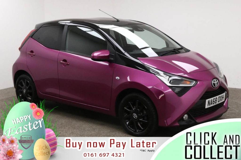 Used 2018 PURPLE TOYOTA AYGO Hatchback 1.0 VVT-I X-CITE X-SHIFT TSS 5d AUTO 69 BHP (reg. 2018-12-10) for sale in Manchester