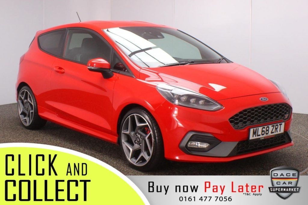 Used 2018 RED FORD FIESTA Hatchback 1.5 ST-3 3DR 1 OWNER 198 BHP (reg. 2018-10-06) for sale in Stockport