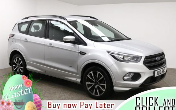 Used 2018 SILVER FORD KUGA Hatchback 1.5 ST-LINE 5d AUTO 180 BHP (reg. 2018-05-31) for sale in Manchester