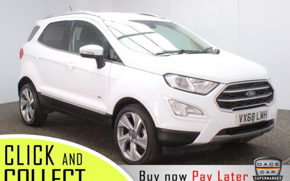 Used 2018 WHITE FORD ECOSPORT 4x4 1.5 TITANIUM TDCI AWD 5DR 1 OWNER 4X4 124 BHP (reg. 2018-11-30) for sale in Stockport
