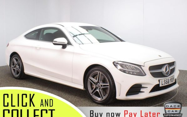 Used 2018 WHITE MERCEDES-BENZ C-CLASS Coupe 2.0 C 300 AMG LINE 2DR AUTO 255 BHP + 1 OWNER (reg. 2018-09-30) for sale in Stockport