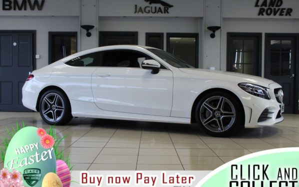 Used 2018 WHITE MERCEDES-BENZ C-CLASS Coupe 2.0 C 300 AMG LINE 2d AUTO 255 BHP (reg. 2018-09-30) for sale in Hazel Grove