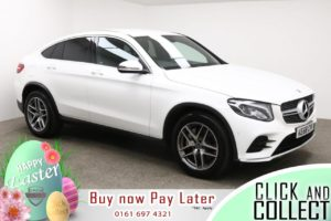 Used 2018 WHITE MERCEDES-BENZ GLC-CLASS Coupe 3.0 GLC 350 D 4MATIC AMG LINE 4d AUTO 255 BHP (reg. 2018-12-31) for sale in Manchester
