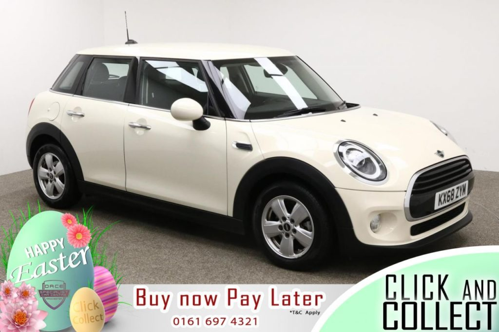 Used 2018 WHITE MINI HATCH COOPER Hatchback 1.5 COOPER 5d AUTO 134 BHP (reg. 2018-11-29) for sale in Manchester