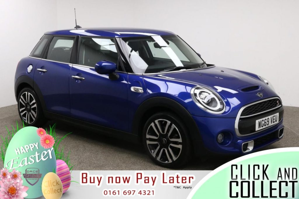 Used 2019 BLUE MINI HATCH COOPER Hatchback 2.0 COOPER S EXCLUSIVE 5d 190 BHP (reg. 2019-12-30) for sale in Manchester