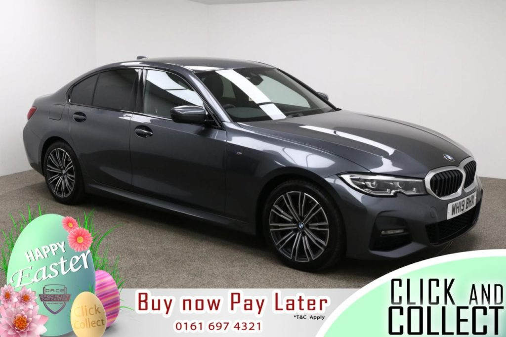Used 2019 GREY BMW 3 SERIES Saloon 2.0 320I M SPORT 4d AUTO 181 BHP (reg. 2019-06-28) for sale in Manchester