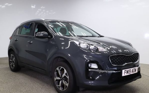 Used 2019 GREY KIA SPORTAGE Estate 1.6 2 ISG 5d 131 BHP (reg. 2019-05-29) for sale in Manchester