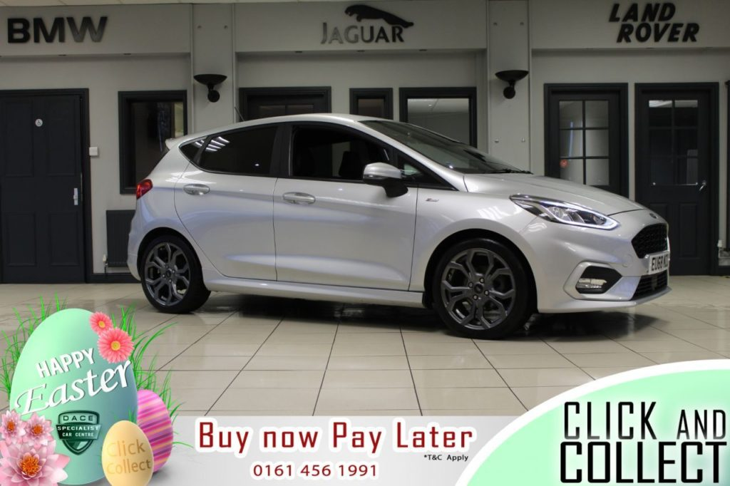 Used 2019 SILVER FORD FIESTA Hatchback 1.0 ST-LINE X 5d 99 BHP (reg. 2019-01-28) for sale in Hazel Grove