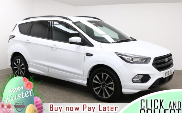 Used 2019 WHITE FORD KUGA Hatchback 1.5 ST-LINE 5d AUTO 148 BHP (reg. 2019-08-23) for sale in Manchester