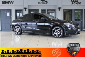 Used 2014 BLACK MERCEDES-BENZ CLA Coupe 1.6 CLA180 AMG SPORT 4d 122 BHP (reg. 2014-12-16) for sale in Hazel Grove