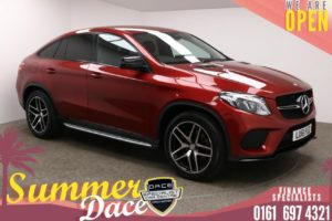 Used 2016 RED MERCEDES-BENZ GLE-CLASS Coupe 3.0 GLE 350 D 4MATIC AMG LINE 4d AUTO 255 BHP (reg. 2016-12-30) for sale in Manchester