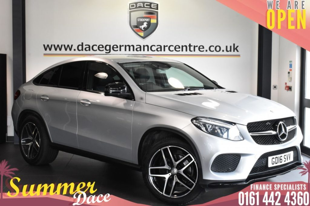 Used 2016 SILVER MERCEDES-BENZ GLE-CLASS Coupe 3.0 GLE 350 D 4MATIC AMG LINE 4DR AUTO 255 BHP (reg. 2016-05-25) for sale in Bolton