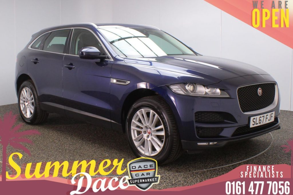 Used 2017 BLUE JAGUAR F-PACE 4x4 2.0 PORTFOLIO AWD 5DR 1 OWNER AUTO 178 BHP (reg. 2017-10-26) for sale in Stockport