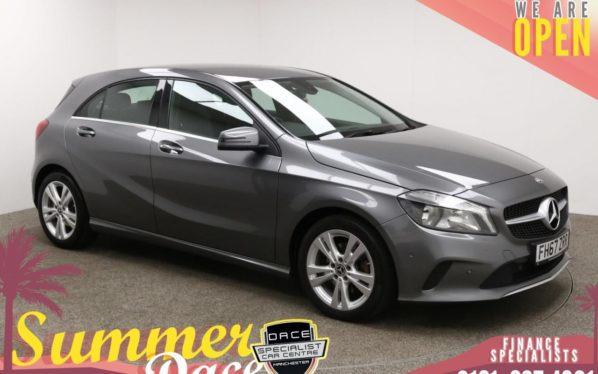 Used 2018 GREY MERCEDES-BENZ A-CLASS Hatchback 1.6 A 180 SPORT EXECUTIVE 5d 121 BHP (reg. 2018-01-26) for sale in Manchester