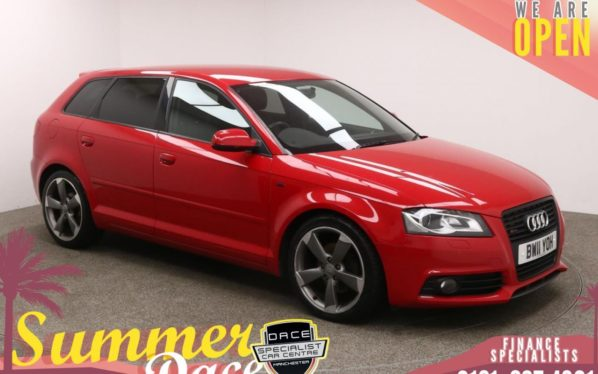 Used 2011 RED AUDI A3 Hatchback 2.0 SPORTBACK TDI S LINE SPECIAL EDITION 5d 138 BHP (reg. 2011-08-18) for sale in Manchester