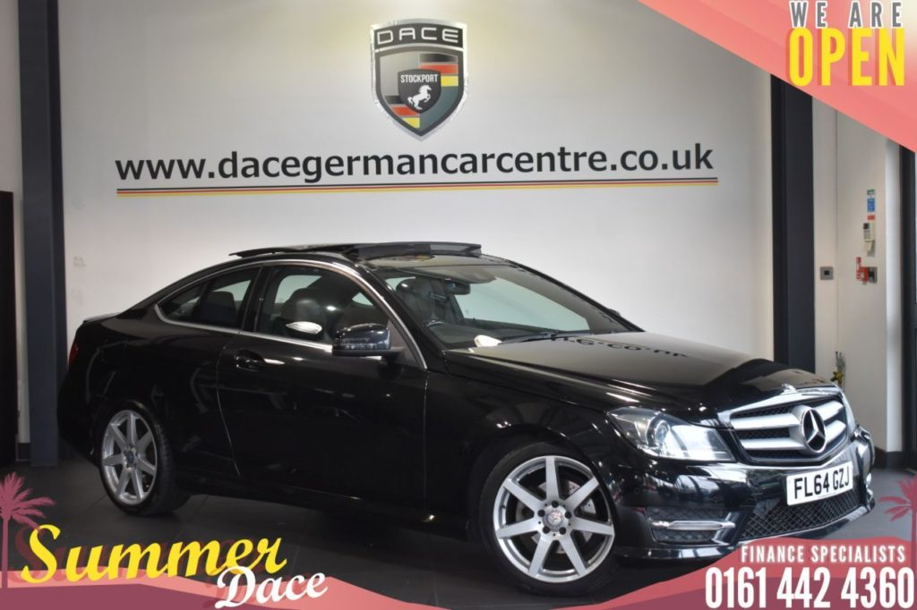 Used 2014 BLACK MERCEDES-BENZ C-CLASS Coupe 2.1 C220 CDI AMG SPORT EDITION PREMIUM PLUS AUTO 2DR 168 BHP (reg. 2014-09-23) for sale in Bolton