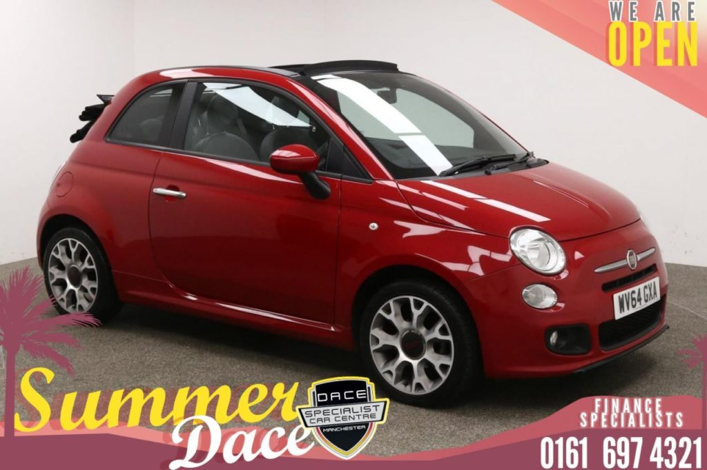 Used 2014 RED FIAT 500C Convertible S (reg. 2014-09-01) for sale in Manchester