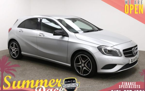 Used 2014 SILVER MERCEDES-BENZ A-CLASS Hatchback 1.6 A180 BLUEEFFICIENCY SPORT 5d 122 BHP (reg. 2014-05-30) for sale in Manchester