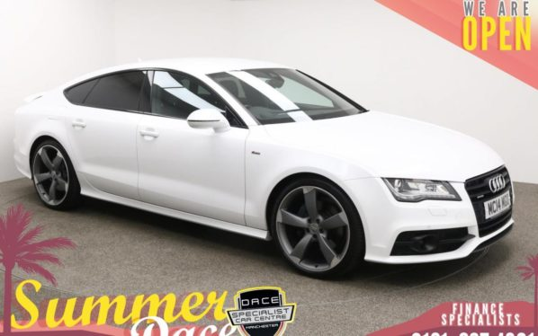 Used 2014 WHITE AUDI A7 Hatchback 3.0 TDI QUATTRO BLACK EDITION 5d AUTO 245 BHP (reg. 2014-07-31) for sale in Manchester